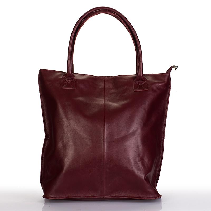 c10c3642c8 Italská dámská kožená kabelka bordó BR818