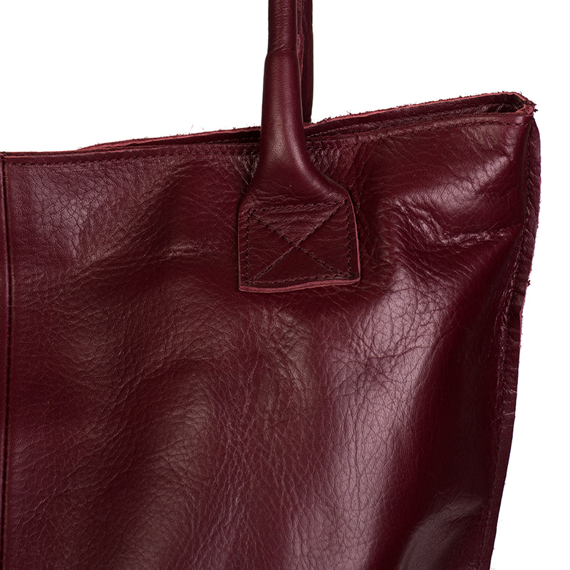 fa4a407e5f ... Italská dámská kožená kabelka bordó BR818 Přes rameno ...