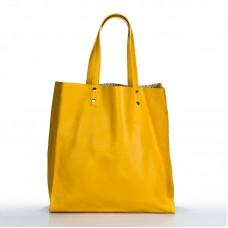 Italská dámská kožená značková kabelka KROLE žlutá BR819 3978580640e