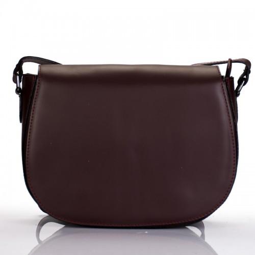 Italská dámská kožená klopová kabelka bordó crossbody BR827 Přes rameno