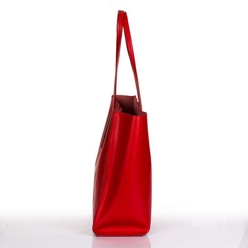 ... Italská dámská kožená kabelka červená na rameno BR833 Přes rameno ... d728d849de7
