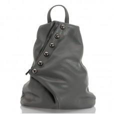 Kožený batůžek italský design šedá BR953 Baťůžky