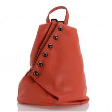 Kožený batůžek italský design orange BR953 Baťůžky