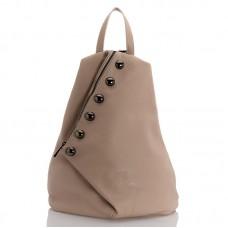 Kožený batůžek italský design růžová BR953 Baťůžky