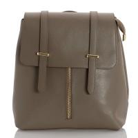Kožený batoh italský design khaki BR954 Baťůžky