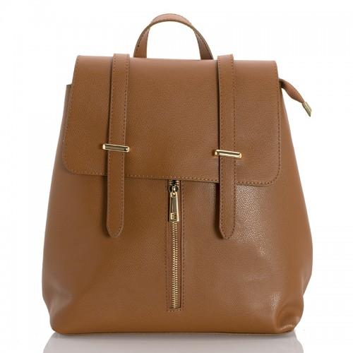 Kožený batoh italský  design hnědá BR954 Baťůžky