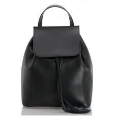 Kožený batůžek italský design černý BR941 Baťůžky