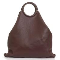 Italská dámská kožená kabelka bordó BR936