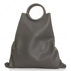 Italská dámská kožená kabelka šedá BR936