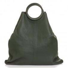 Italská dámská kožená kabelka zelená BR936