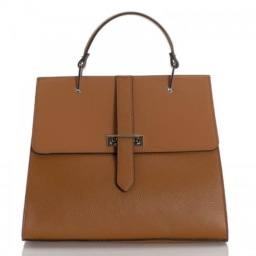 Italská dámská kožená kabelka camel BR939