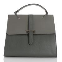 Italská dámská kožená kabelka šedá BR939