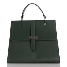 Italská dámská kožená kabelka zelená BR939