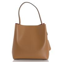 Italská dámská kožená kabelka camel BR940