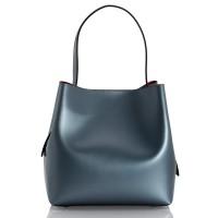 Italská dámská kožená kabelka modrá BR940