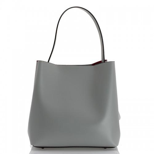 Italská dámská kožená kabelka šedá BR940