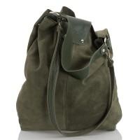 Italská dámská kožená taška zelená BR942