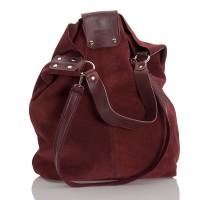 Italská dámská kožená taška bordó BR942