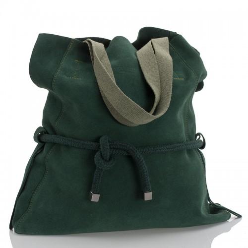 Italská dámská kožená taška zelená BR943