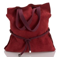 Italská dámská kožená taška červená BR943