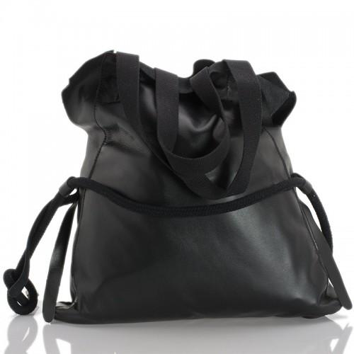 Italská dámská kožená kabelka černá BR944