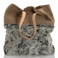 Italská dámská kožená kabelka šedá BR945