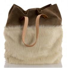 Italská dámská kožená kabelka bílá BR945