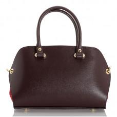 Italská dámská kožená kabelka bordó BR947