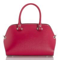 Italská dámská kožená kabelka fuksie BR947