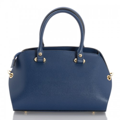 Italská dámská kožená kabelka modrá BR947
