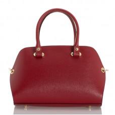 Italská dámská kožená kabelka červená BR947