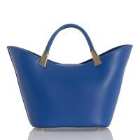 Italská dámská kožená kabelka modrá BR950
