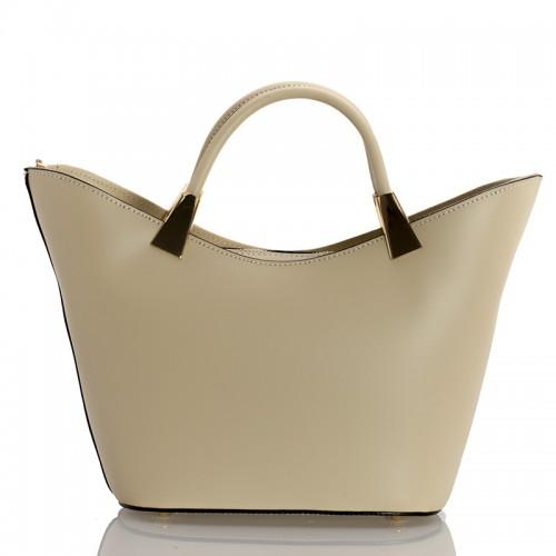 Italská dámská kožená kabelka begie BR950