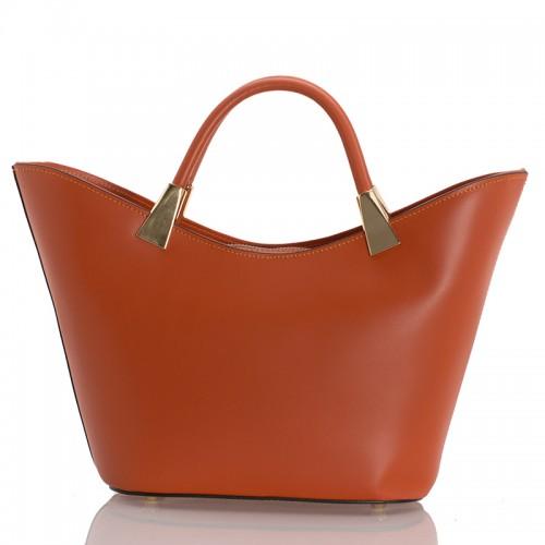 Italská dámská kožená kabelka orange BR950