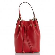 Italská dámská kožená kabelka červená BR951