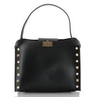 Italská dámská kožená kabelka černá BR952