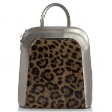 Kožený batoh italský  design šedá BR937