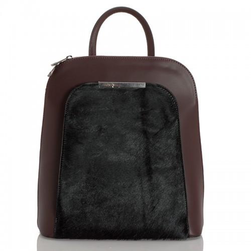 Kožený batoh italský  design bordó BR937