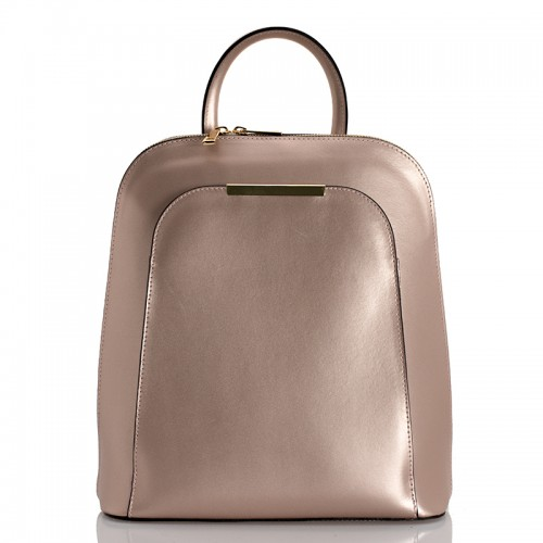 Kožený batoh italský  design begie BR938