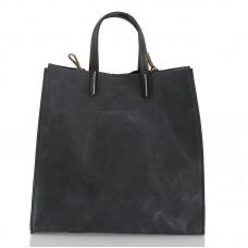 Italská dámská kožená kabelka černá BR955