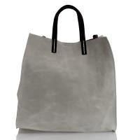 Italská dámská kožená kabelka šedá BR955