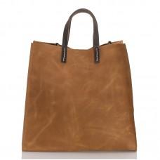 Italská dámská kožená kabelka camel BR955