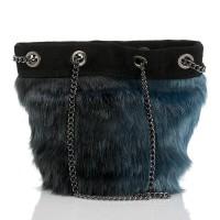 Italská dámská kožená kabelka modrá BR956