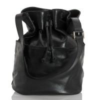 Kožený batoh italský  design černá BR957