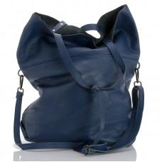 Italská dámská kožená kabelka modrá BR959