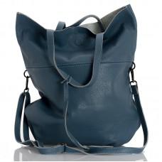 Italská dámská kožená kabelka sv. modrá BR959
