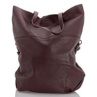 Italská dámská kožená kabelka bordó BR959