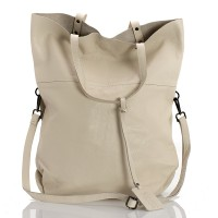 Italská dámská kožená kabelka bílá BR959