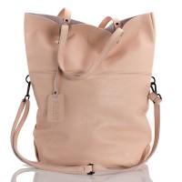 Italská dámská kožená kabelka růžová BR959