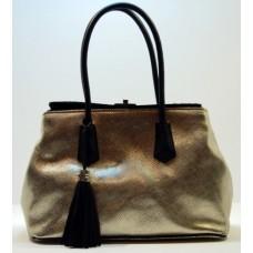 Luxusní italská kabelka zlato černá 9412 BR103